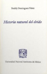 Historia natural del olvido