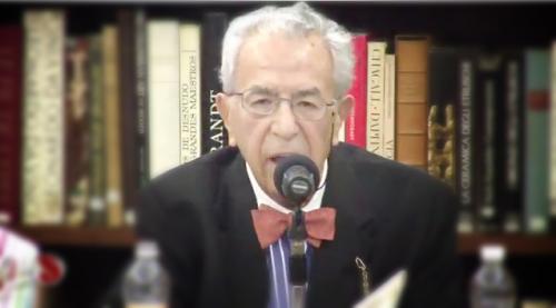 Raúl Ortiz en el homenaje a Rosario Castellanos