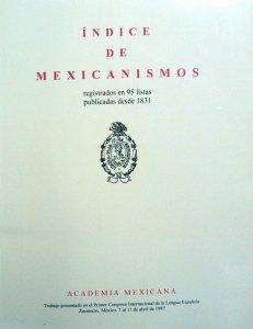 Índice de mexicanismos