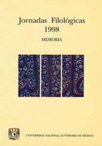 Jornadas Filológicas 1998: memoria