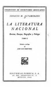 La literatura nacional : revistas, ensayos, biografías y prólogos II