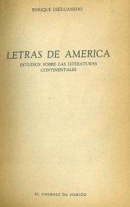 Letras de América : estudios sobre las literaturas continentales