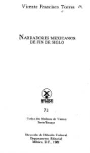Narradores mexicanos de fin de siglo