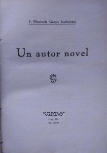 Un autor novel
