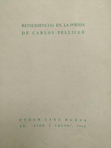 Reincidencias en la poesía de Carlos Pellicer