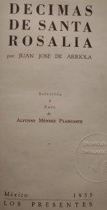 Décimas de Santa Rosalía