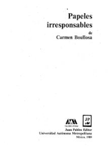 Papeles irresponsables