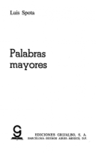 Palabras mayores