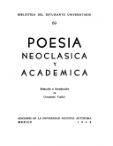 Poesía neoclásica y académica