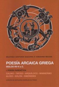 Poesía arcaica griega : siglos VII-V : I poesía parenetica