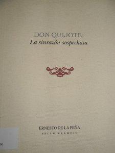 Don Quijote : la sinrazón sospechosa