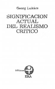 Significación actual del realismo crítico