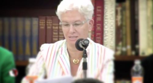 Rodica Radián en el homenaje a Rosario Castellanos