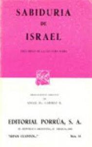 Sabiduría de Israel : tres obras de la cultura judía