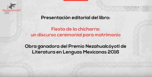 Presentación de libro : Fiesta de la chicharra: un discurso ceremonial para matrimonio