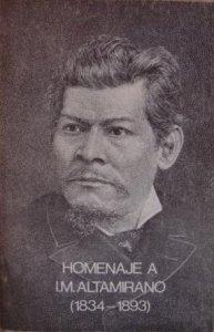 Homenaje a Ignacio Manuel Altamirano (1834-1893)