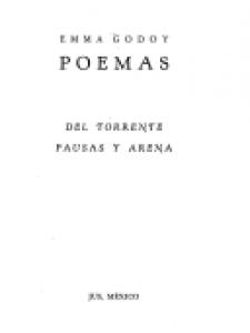 Poemas : del torrente : pausas y arena