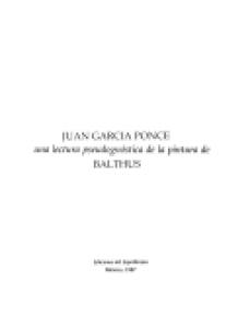 Una lectura pseudognóstica de la pintura de Balthus