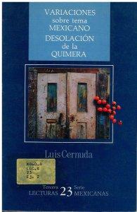 Variaciones sobre tema mexicano : desolación de la quimera